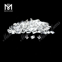 Wholesale machine cut stone price natural white topaz