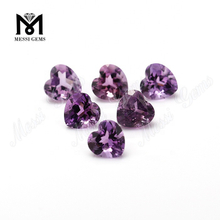 Loose heart shaped 8*8mm natural amethyst gemstone for sale