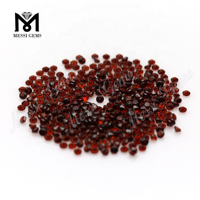 Hot Sale 2.0mm Small Size Round Shape Natural Garnet Stone