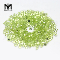 cheap wholesale princess cut natural loose peridot gemstones