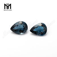 pear shape natural loose stones london blue topaz gemstones