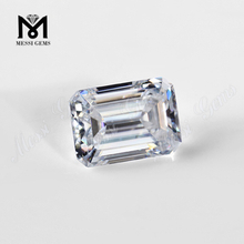 loose gemstone 1 carat emerald cut moissanite VVS
