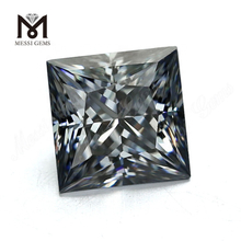 Loose Man Made diamonds Square Princess Grey Moissanite Stone
