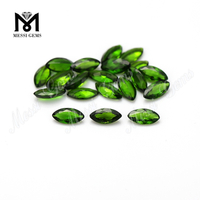 High quality marquise shape 3x6mm loose gemstone natural chrome diopside