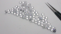 Excellent Round brilliant cut 1-3 mm D CVD diamonds