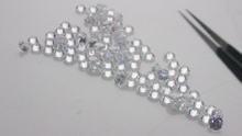 Lab created Excellent Round brilliant cut 1-3 mm D Loose CVD diamonds