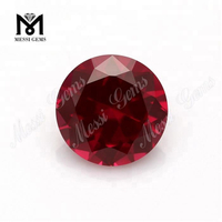 5# Red Corundum Wholesale Natural Round Ruby Stone