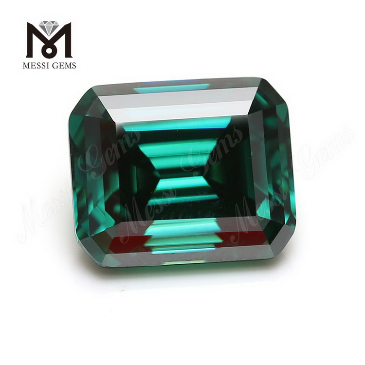 Emerald cut Green moissanite diamond Lab created Loose gemstones Octagon