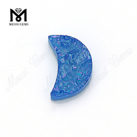 natural gemstones agate blue drusy agate for jewelry wholesale