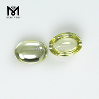 6x8mm oval cabochon cut olive cz loose cubic zirconia stones