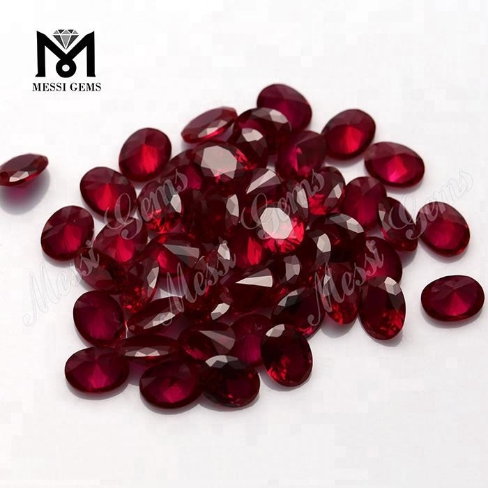 Loose Synthetic Ruby #7 Color Red Corundum Gemstones