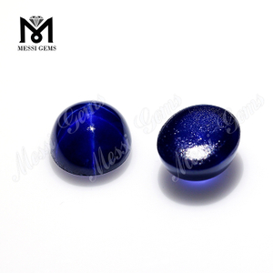 7x9mm Oval Shape Sapphire Gemstone Blue Star Sapphire For Ring