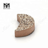 Wholesale Moon Shape Rose Gold Natural Druzy