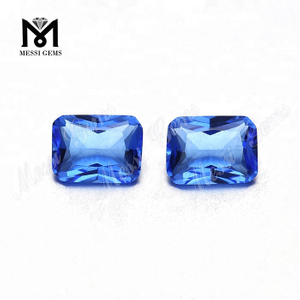 Wholesale Loose 6 x 8mm Octagon Blue Hydro Quartz