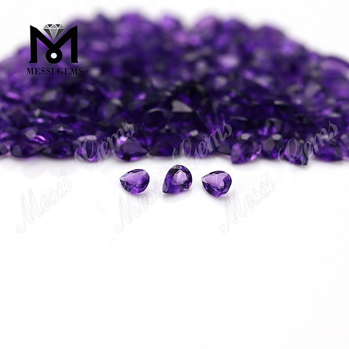 Pear cut 3x4mm loose small natural amethyst stones price