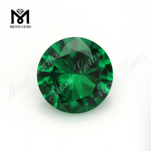 9.0mm loose gems synthetic lab created nano green