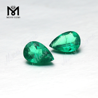 synthetic loose 7x10mm pear shape columbia emerald stone