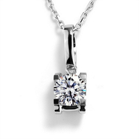 18k White Gold 1 carat moissanite gemstone jewelry earing for girls