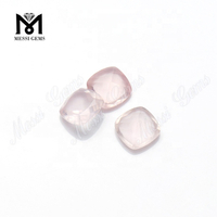 cushion cut 8x8mm loose natural rose quartz gemstone