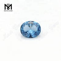 Wholesale Price Oval 6x8mm Synthetic 106# Blue Spinel Stone