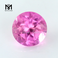 Wholesale 8MM Round Shape Color Curundum Synthetic Ruby For Ring