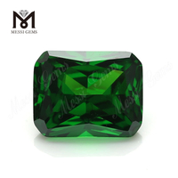 Factory price synthetic cubic zirconia gemstone octagon cut 8x10mm green cz
