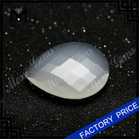 Wholesale Pear Shape White Jade Bead Gemstone Natural Jade