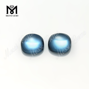 light blue color 106# 10x10mm cushion cabochon synthetic spinel