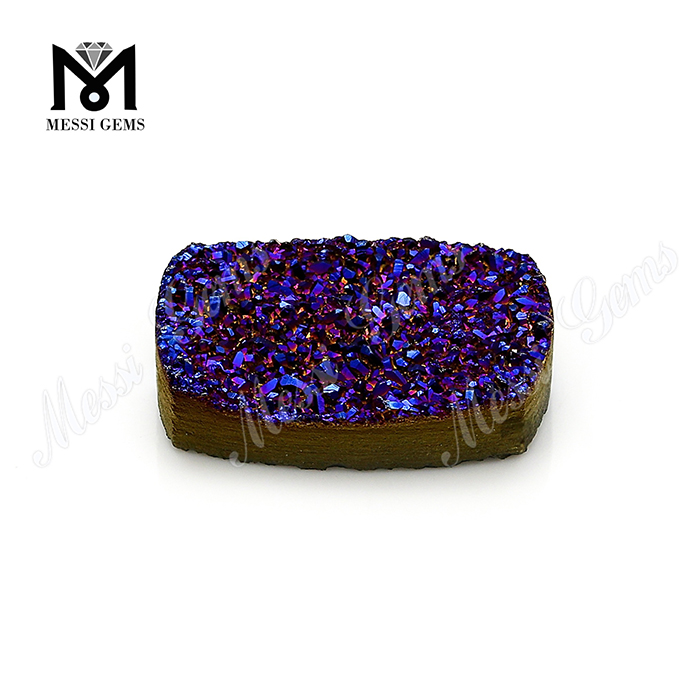factory wholesale gemstones natural agate amethyst druzy stones