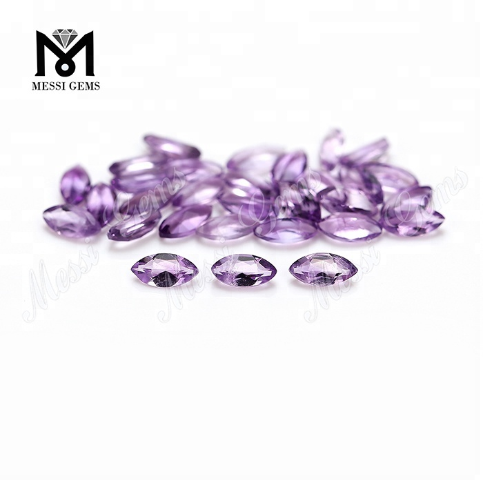 Wholesale price natural amethyst marquise shape 2.5*2.5mm loose gemstone