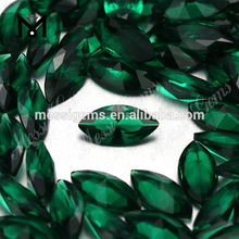 Marquise 5x10mm emerald green nano gems