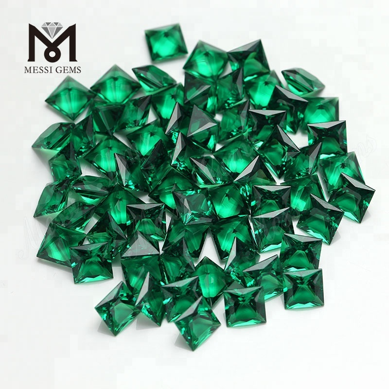 Square 12*12 emerald green hydro quartz crystal gems