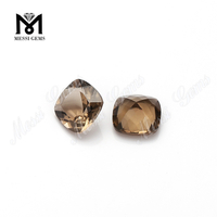 Wholesale high quality faceted smoky quartz natural loose gemstone