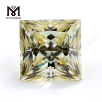 yellow moissanite diamond stone manufacturer loose gems