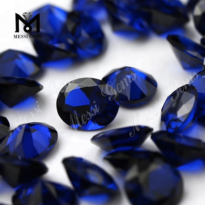 Wholesale Price Oval Cut 10 x 12 mm Synthetic 113# Blue Spinel Gems