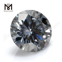 Wuzhou moissanite manufacturer 7mm loose grey moissanite price per carat