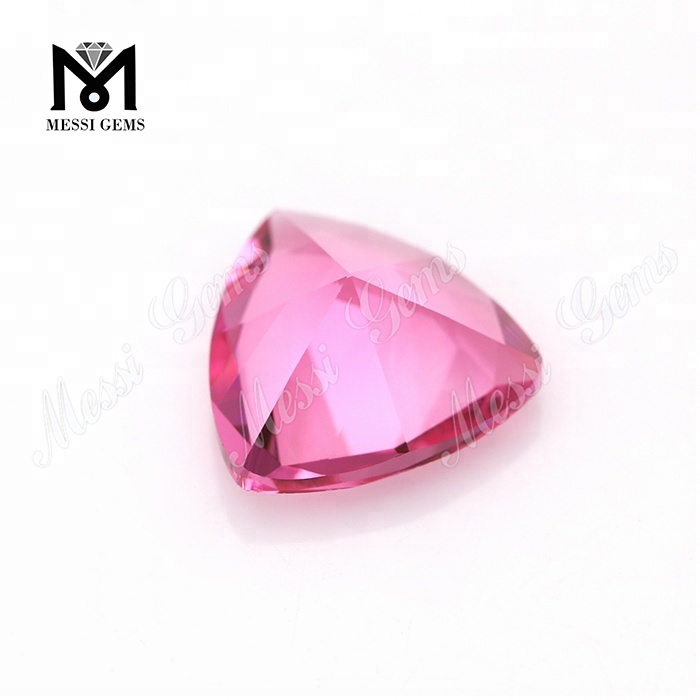 Wholesale Trillion Cut 12x12 mm Factory Cheap Price Pink Sapphire Glass Stone