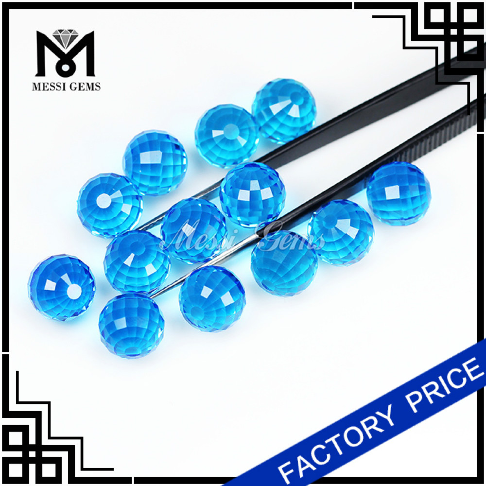wholesale round glass ball facet cut round glass gemstone bead