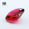 Factory Price Diamond Cut 8.0mm Rubellite Crystal Glass Gemstone
