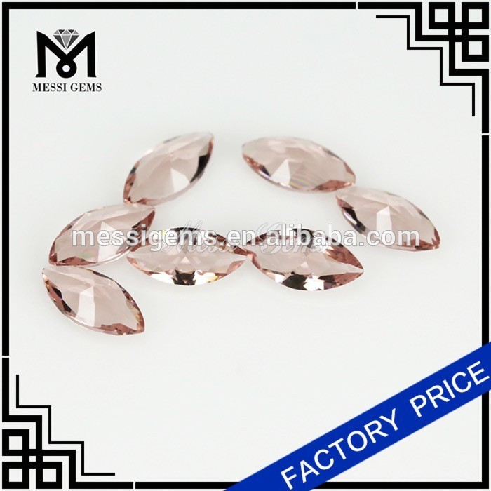 Morganite Marquise gems stone crystal glass stone