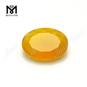 oval cut faceted stones yellow agate loose agate stones