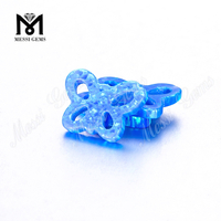 hot sale butterfly shape synthetic blue opal stones for opal pendant