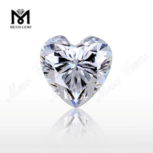Top Machine Cut Clear White Moissanites Stone Heart Loose Moissanites