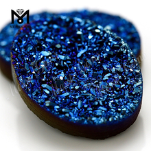 Agate Druzy Cabochon Plating Druzy Agate Oval Shape Druzy Agate Beads