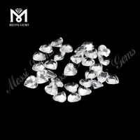 bulk stock heart cut 4x4mm loose natural white topaz stones price