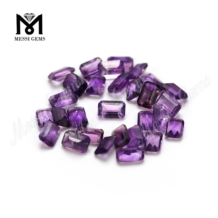 4x6mm emerald cut loose natural amethyst gemstone price