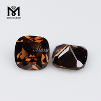 Wholesale good quality 5mm cushion brown loose cz gemstone