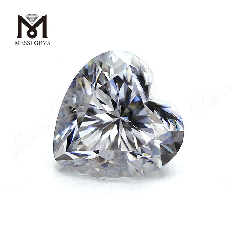 Heart Cut Large Size 14x14MM White moissanite diamond Per Carat Price