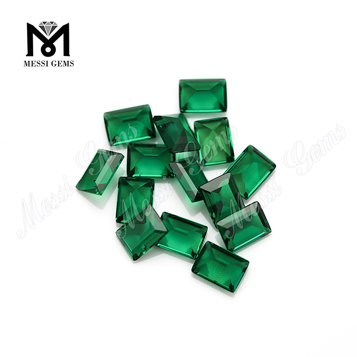 Lab created green gems bagutte 6*8 emerald stone prices