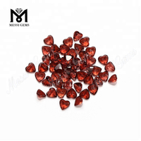 3x3mm heart cut cheap price natural garnet gemstones loose stones